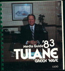 Tulane University Media Guide from 1983!