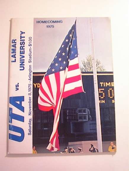 UTA vs Lamar University 11/8/1975,Program