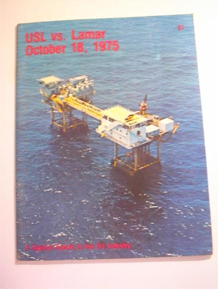 USl vs Lamar 10/18/1975 Program,Salute to Oil
