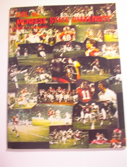 USL vs Mcneese State University 11/22/75,Pgm