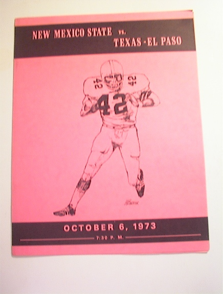 New Mexico State vs Texas-El Paso,10/6/1973