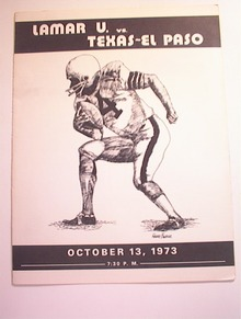 Lamar U vs Texas-El Paso,10/13/1973,Program