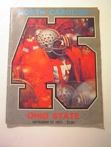 North Carolina vs Ohio State 9/27/75,Program
