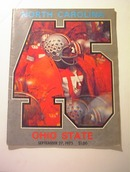 North Carolina vs Ohio State 9/27/75,Program