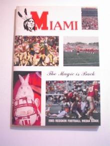 MIAMI 1985 Redskin Football Media Guide