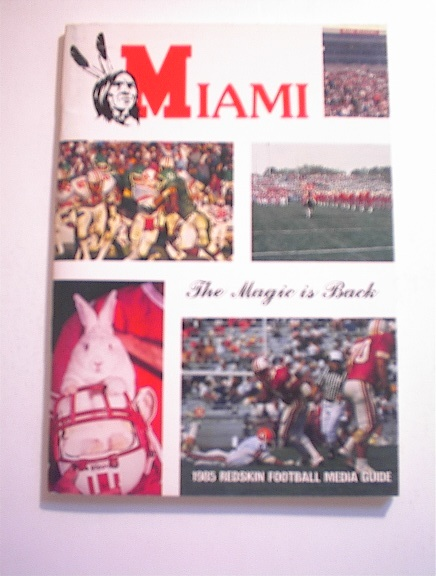 MIAMI 1985 Redskin Football Media Guide
