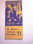 St.Mary's College 1971 Football Press Guide