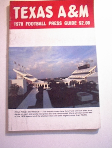 Texas A & M 1978 Football Press Guide