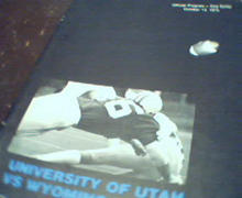 University of Utah vs Wyoming Program 10/73