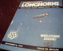 Texas vs Baylor Official Program 11/8/75