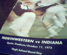 Nortwestern vs Indiana Program from 10/11/75