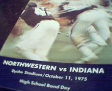 Nortwestern vs Indiana Program from 10/11/75