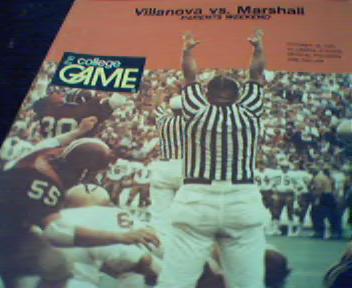 Villanova vs Marshall Program from 10/18/75