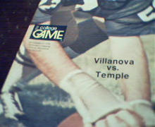 Villanova vs Temple Official Game Program 75