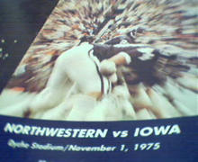 Northwestern vs Iowa Offical Game Program!