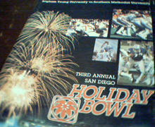 Holiday Bowl SMU vs Brigham Young 12/19/80