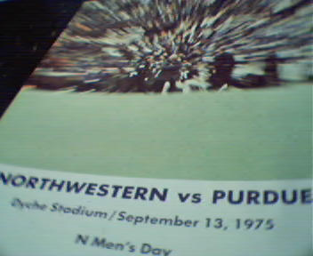 Northwestern vs Purdue Game 9/13/75 Program
