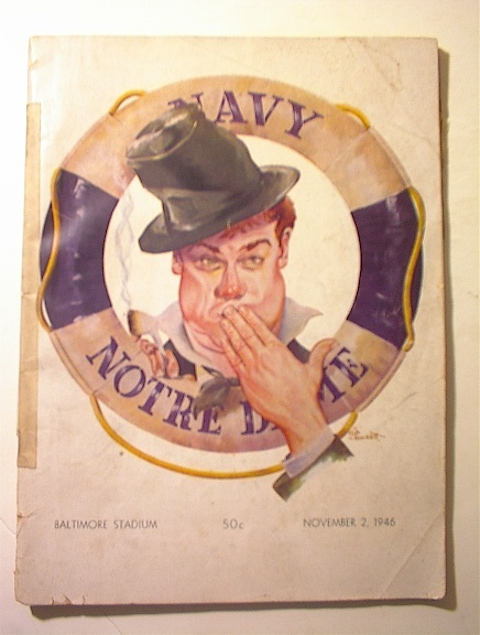 Navy vs Notre Dame,11/2/1946 Program