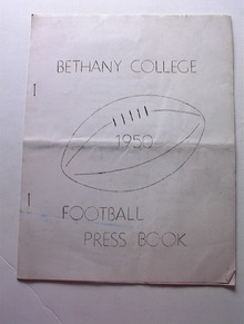 1950 Bethany College Football Press Book
