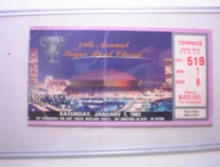 1/1/83 49th Annual Sugar Bowl Classic Ticket