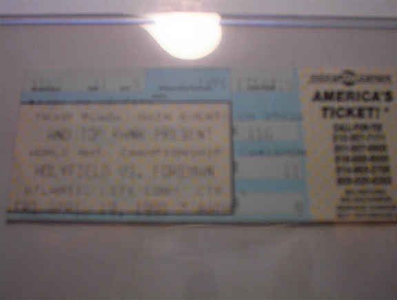 USED 4/19/1991 HOLYFIELD VS. FOREMAN Ticket