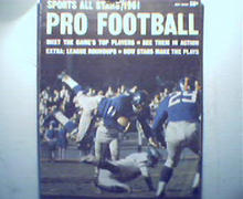Pro Football Sports All Stars from 1961!