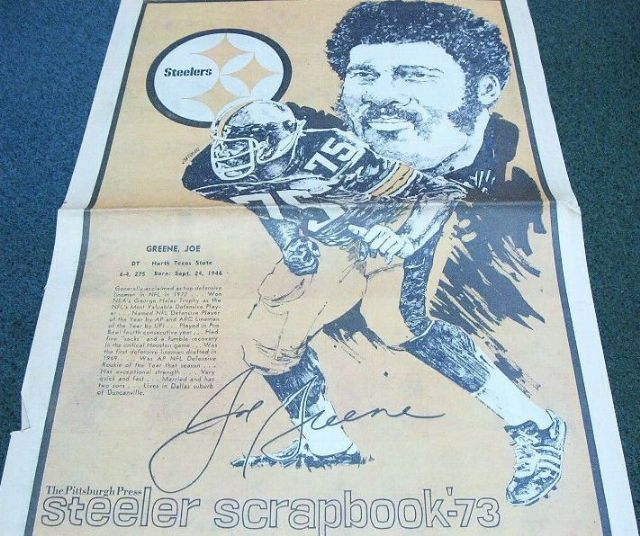 Joe Greene Steeler Scrapbook/Pgh. Press 1973