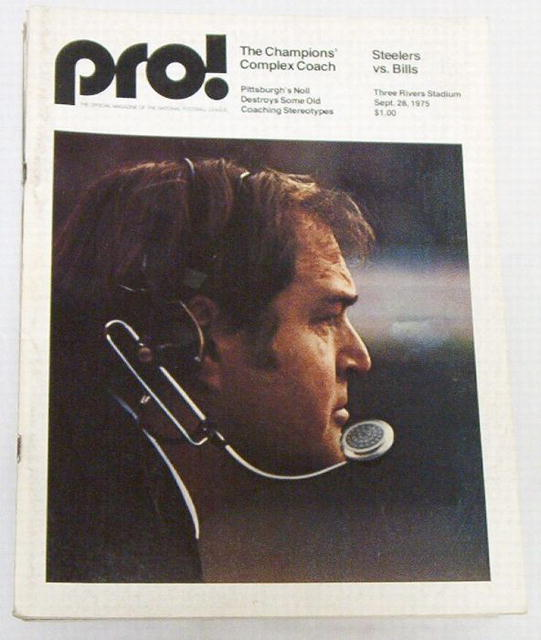 Pro! NFL Football Steelers vs Bills 8/28/1975