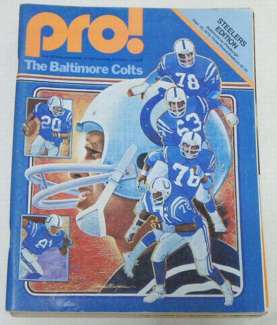 Pro! NFL Football Steelers vs. Colts 9/23/79