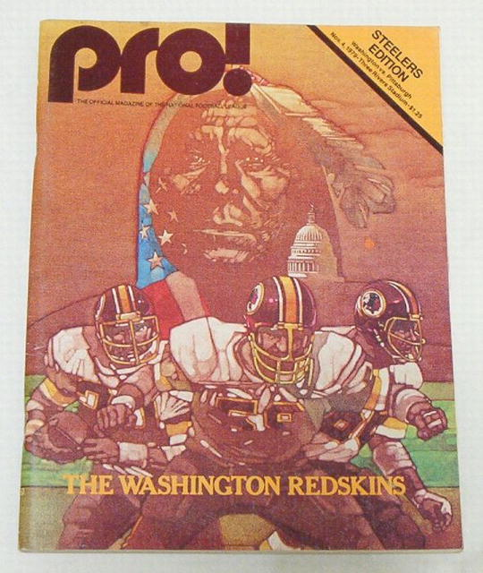 Pro! NFL Football Steelers / Redskins 11/4/79