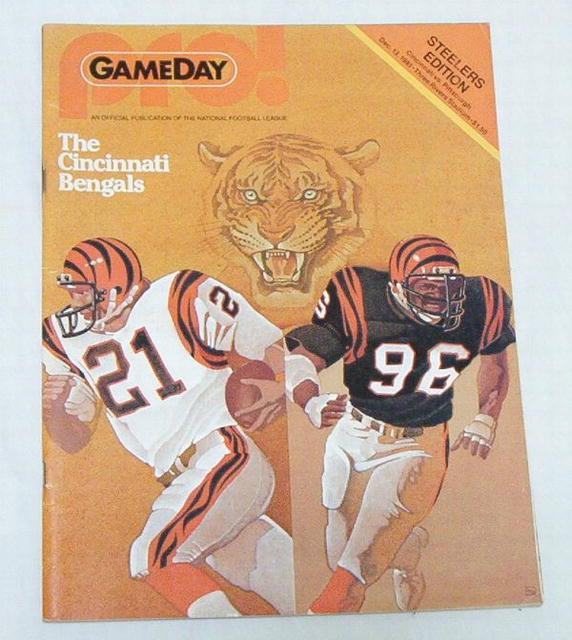Gameday Pro! Steelers/Cinci. Bengals 12/13/81