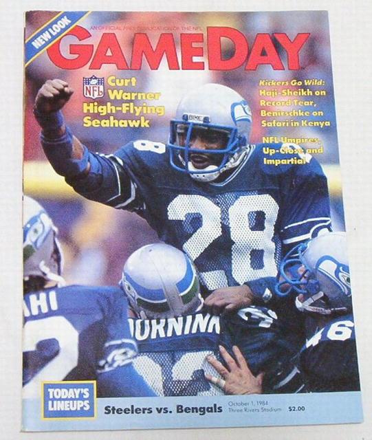 Gameday Pro! Steelers/Cincinn.Bengals 10/1/84