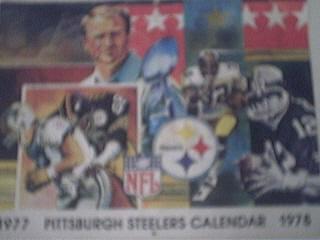 1977-1978 Pittsburgh Steelers Calendar