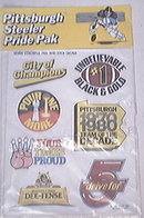 Pittsburgh Steeler Pride Pak Decals 1980