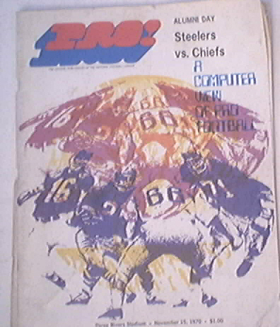 Steelers vs. Chiefs 11/15/1970 Program