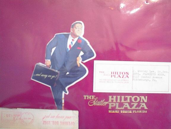 1967 VELVET BROCHURE STATLER HILTON PLAZA