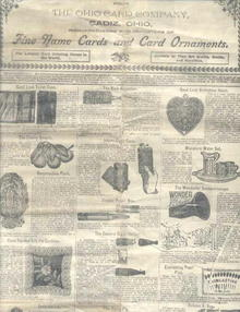 Catalogue from Ohio Card Co. 1900