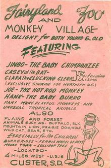 flyer- Fairyland Zoo, Custer, SD, circa 1950