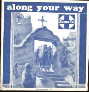 Santa Fe RR Along Your Way travel guide 1943