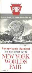 NY 1964 Worlds Fair PA RR Schedule