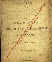 Bureau of Railways Annual Report