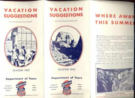 Union Pacific 1931 Vacation Suggestions flyer