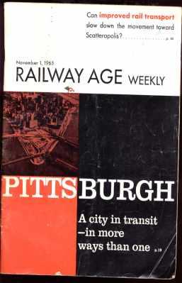 Railway Age Weekly Nov 1 1965 great photos