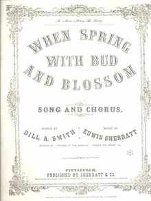 When Spring with Bud & Blossom 1865 Pgh