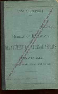 Bureau of Railways 1901 annual report PA