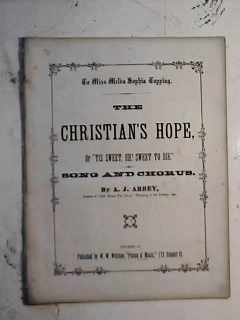 Christian's Hope pub Toledo Ohio 1866