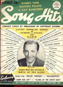Bing Crosby cover Song Hits Nov 1941