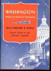 B&O Washinton Tour Book 1949 great photos