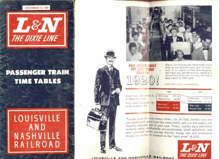 L&N The Dixie Line Dec 15 1961 Timetables