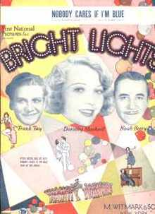 Bright Lights Sheet Music Noah Beery 1929